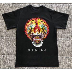 Harley Davidson Belize Fire Eagle Shirt